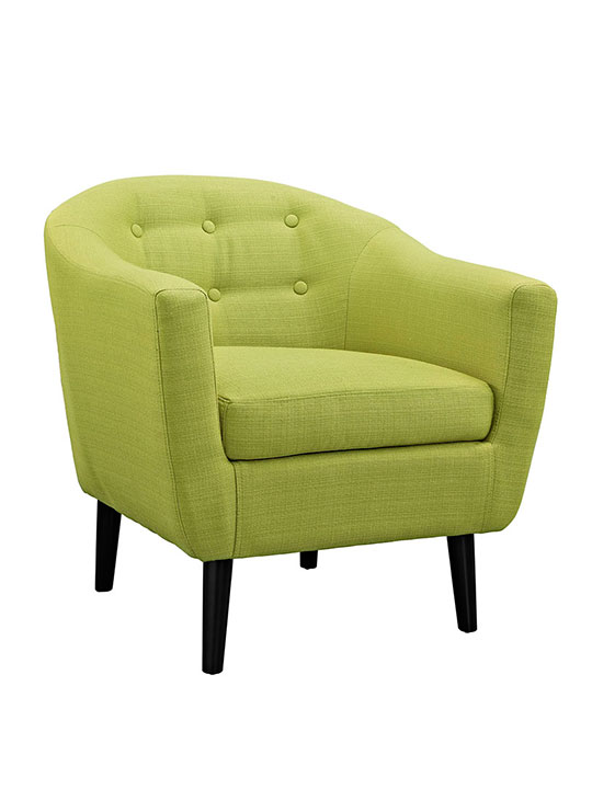 ept upholstered armchair lime green 1