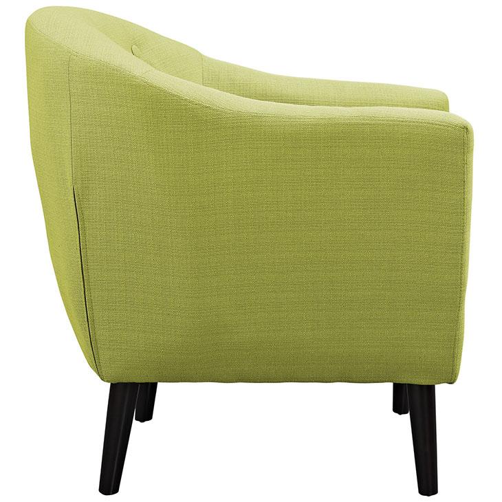 ept upholstered armchair lime green 2
