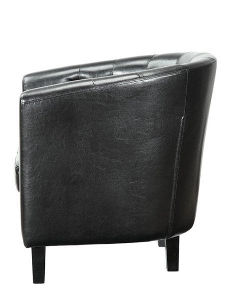 exclusive vegan leather sofa armchair black 2 461x614