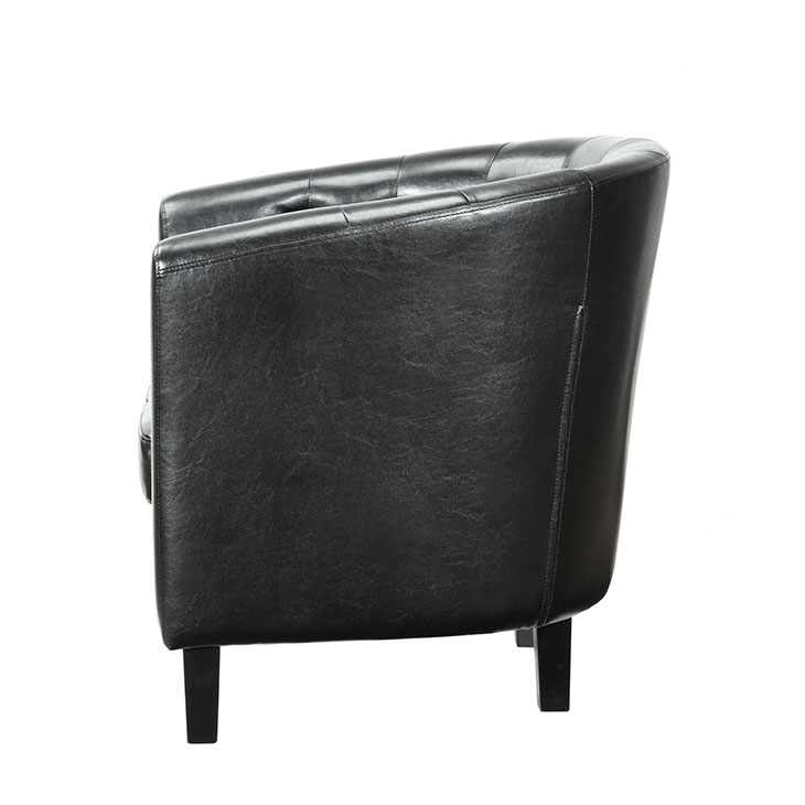 exclusive vegan leather sofa armchair black 2