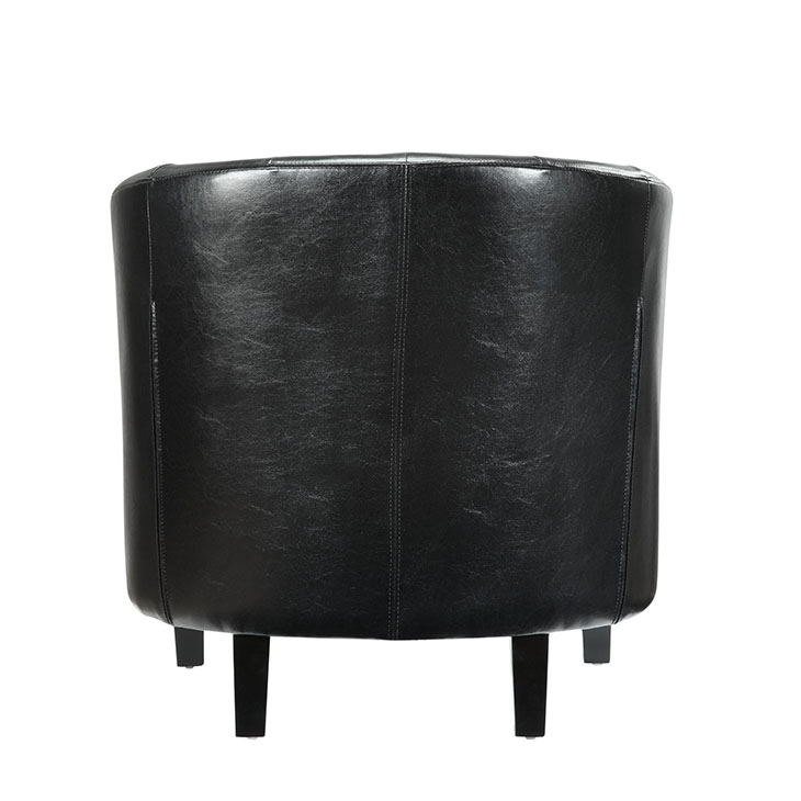 exclusive vegan leather sofa armchair black 3