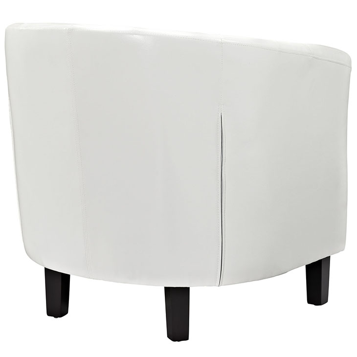exclusive vegan leather sofa armchair white 2