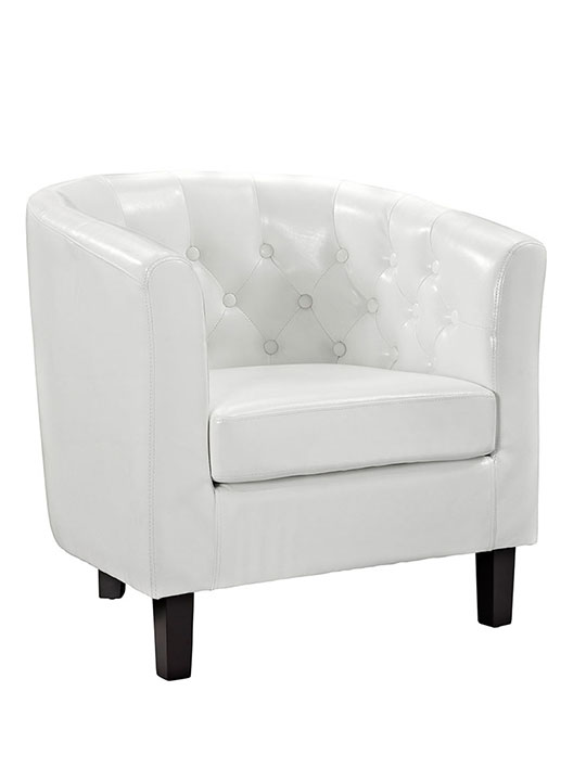 Exclusive Vegan Leather Sofa Armchair White