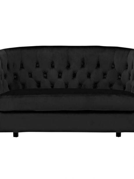 exclusive velvet loveseat black 1 461x614