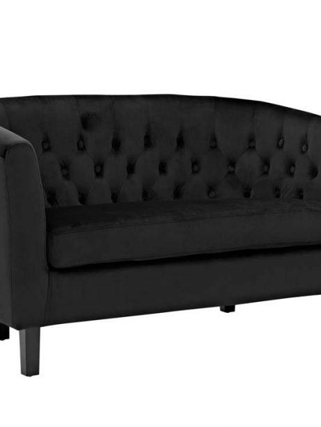 exclusive velvet loveseat black 2 461x614