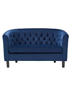 exclusive velvet loveseat blue 237x315