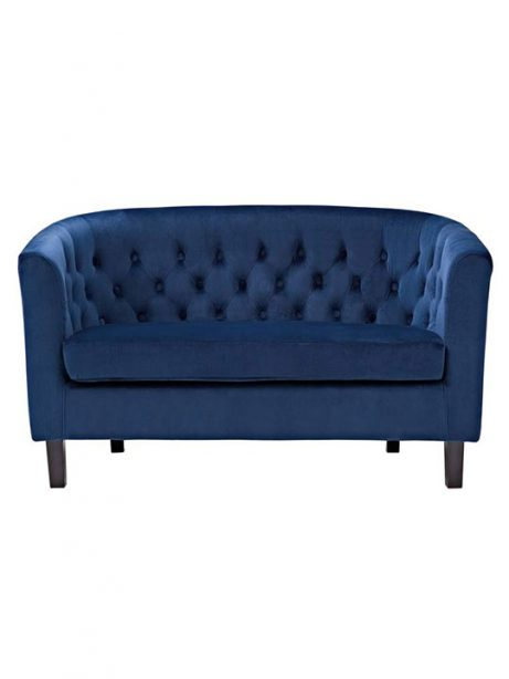 exclusive velvet loveseat blue 461x614
