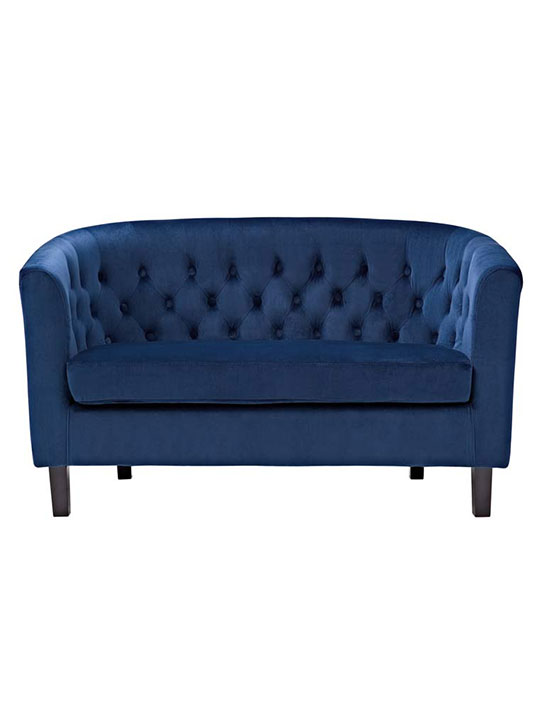 exclusive velvet loveseat blue