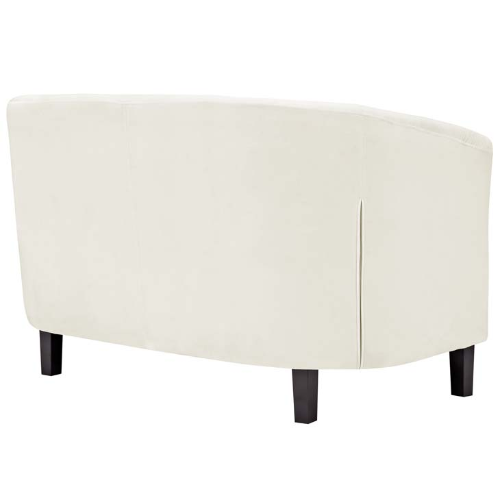exclusive velvet loveseat cream 3