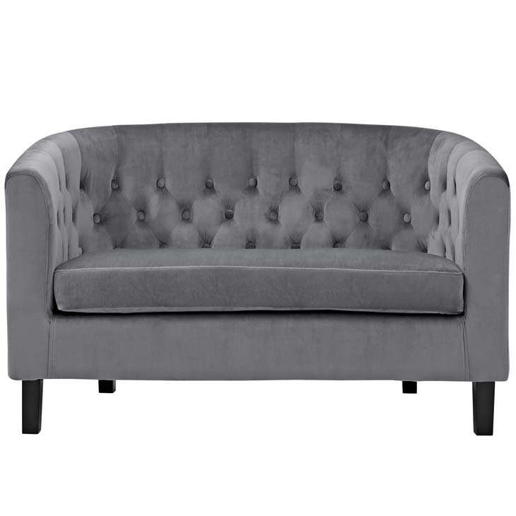 exclusive velvet loveseat gray 1