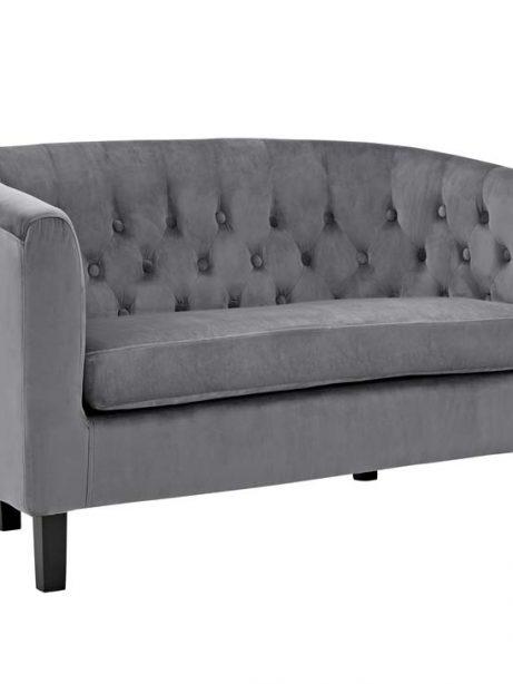 exclusive velvet loveseat gray 2 461x614