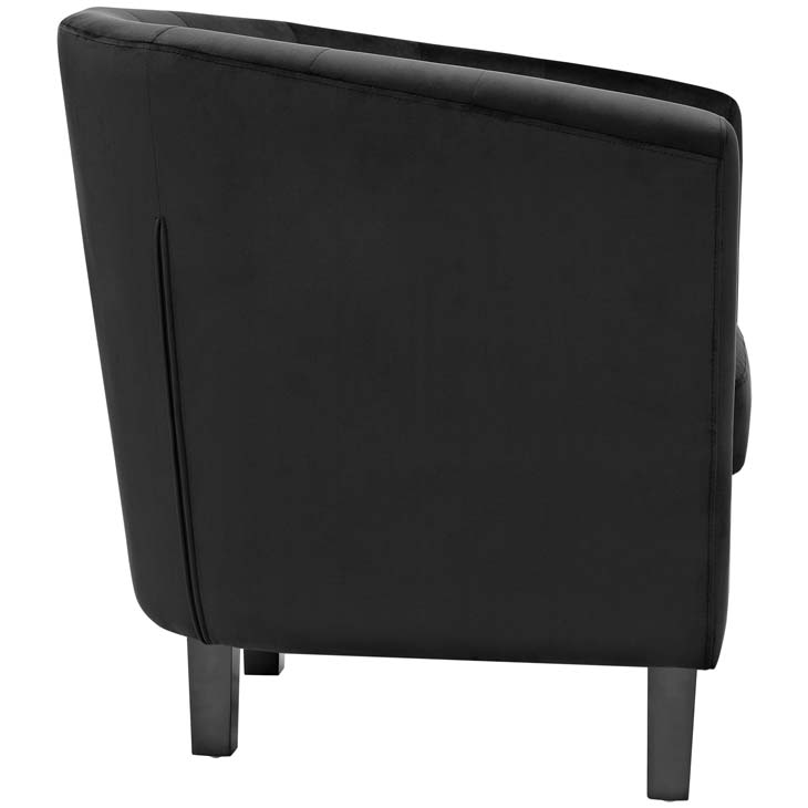 exclusive velvet sofa armchair black 1