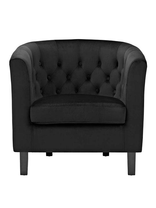 exclusive velvet sofa armchair black