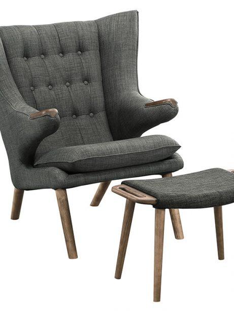 fellow lounge chair ottoman set gray 1 461x614