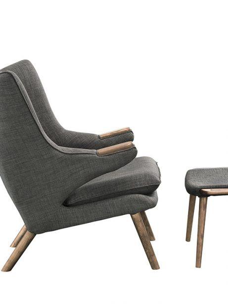 fellow lounge chair ottoman set gray 2 461x614