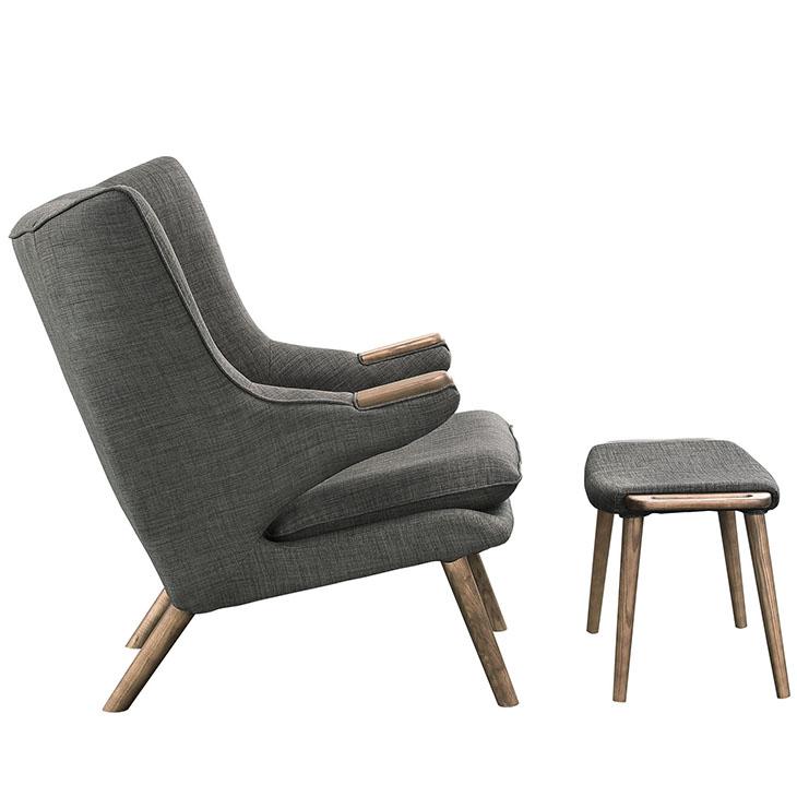 fellow lounge chair ottoman set gray 2