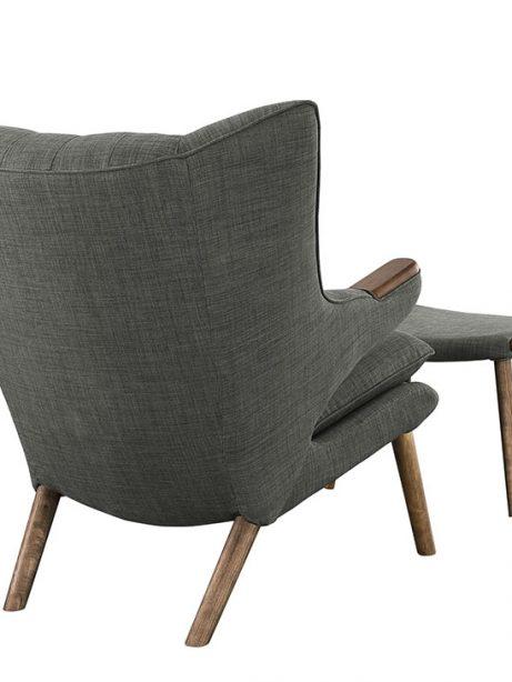 fellow lounge chair ottoman set gray 3 461x614
