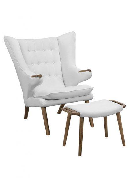 fellow lounge chair ottoman set white 1 461x614