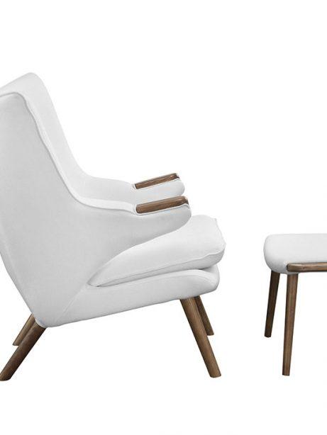 fellow lounge chair ottoman set white 2 461x614