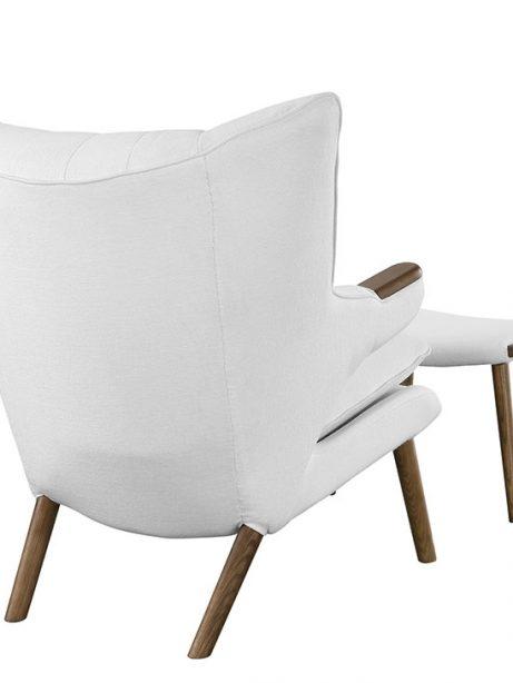 fellow lounge chair ottoman set white 3 461x614