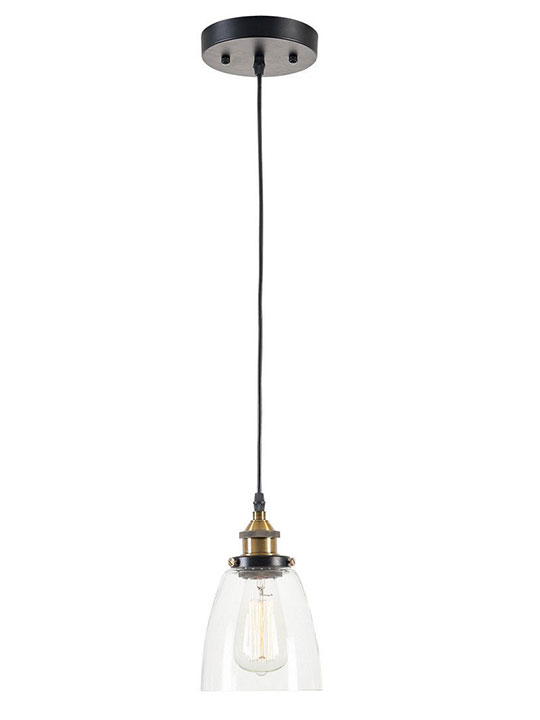 glass bell pendant light