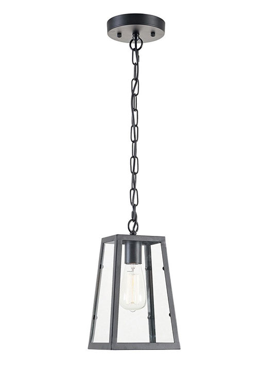 glass box small pendant light