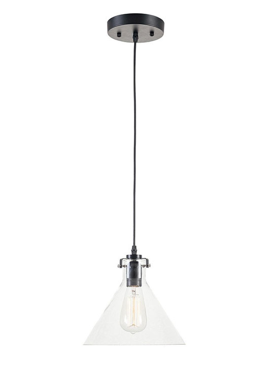 glass dome minimal pendant light