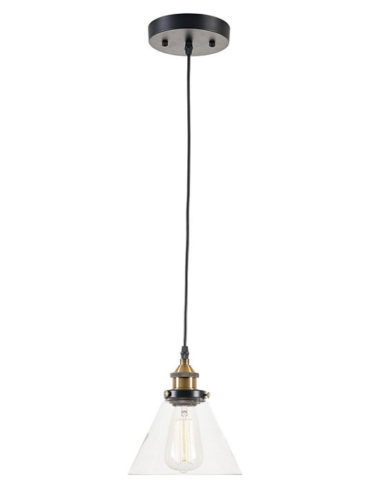 glass industrial pendant light