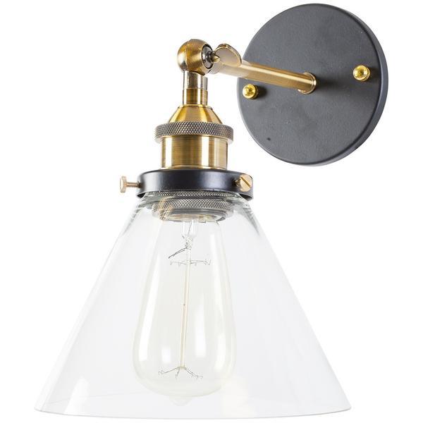 glass industrial wall light 1