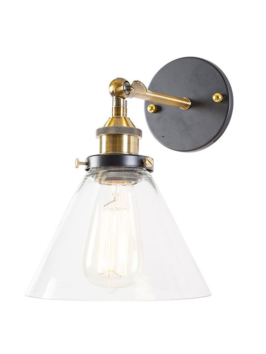 glass industrial wall light