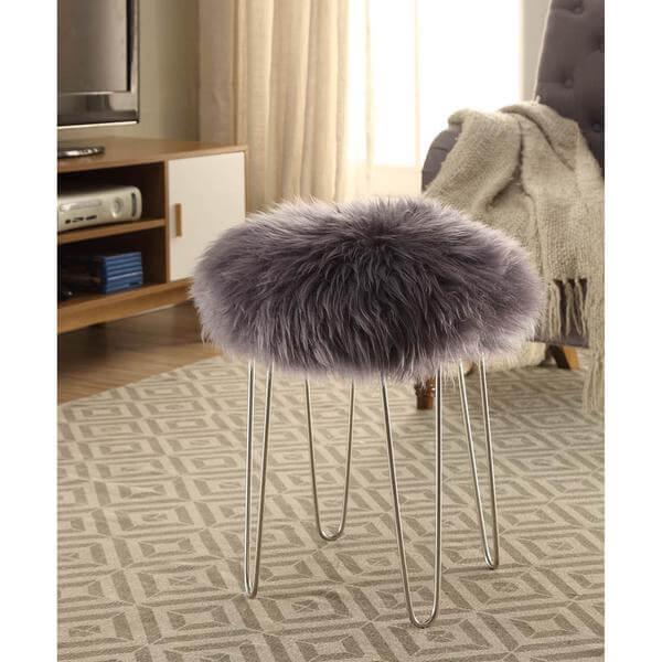 gray puff stool