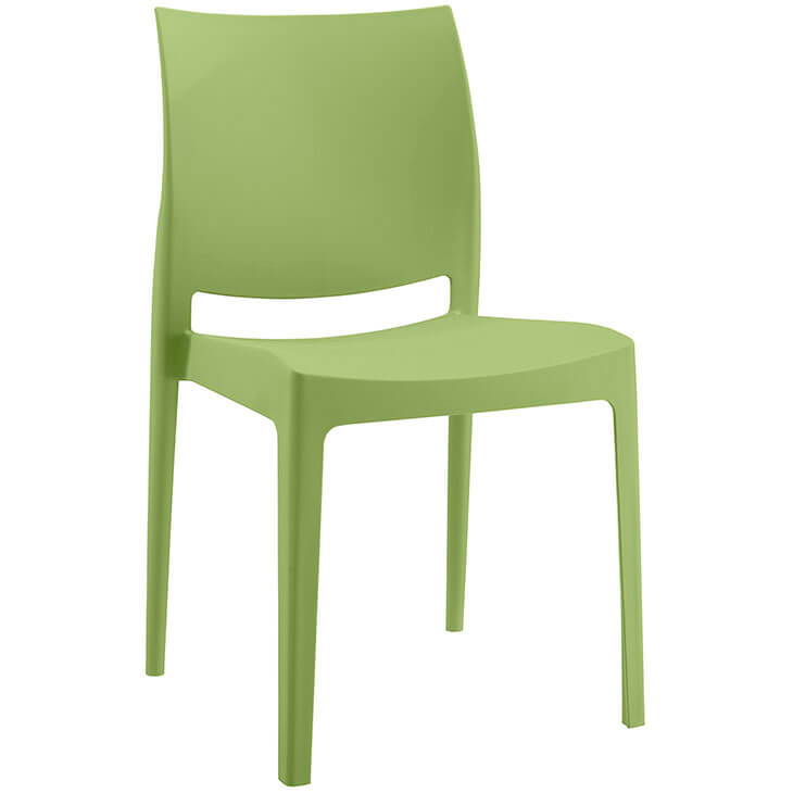 green plastic chair favor