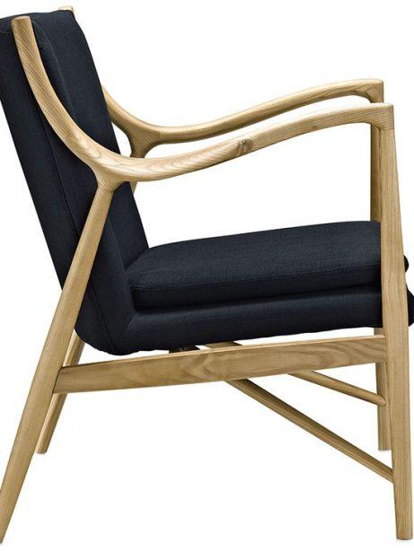 horn wood fabric chair black 2 461x614