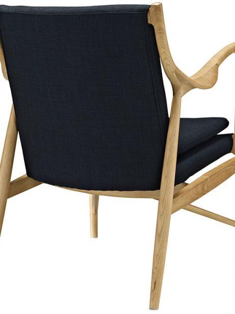 horn wood fabric chair black 3 461x614