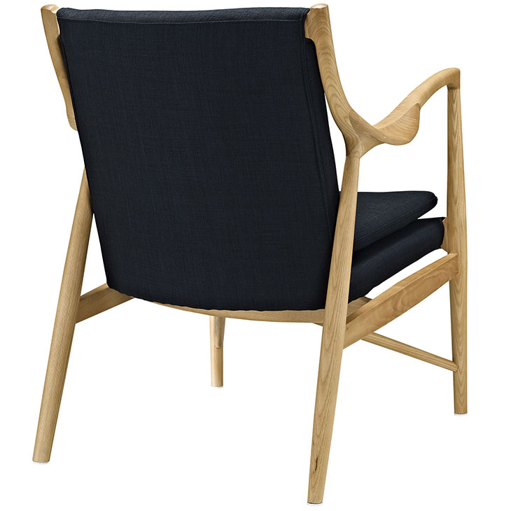horn wood fabric chair black 3