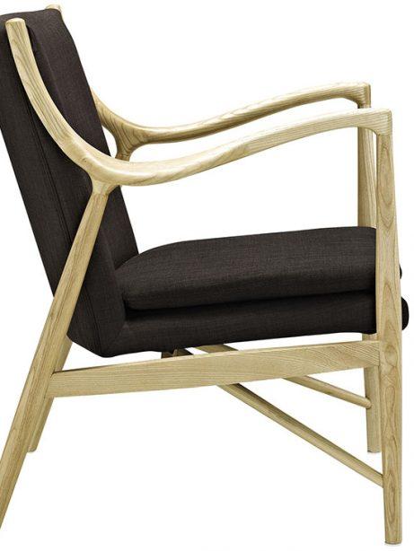horn wood fabric chair brown 1 461x614