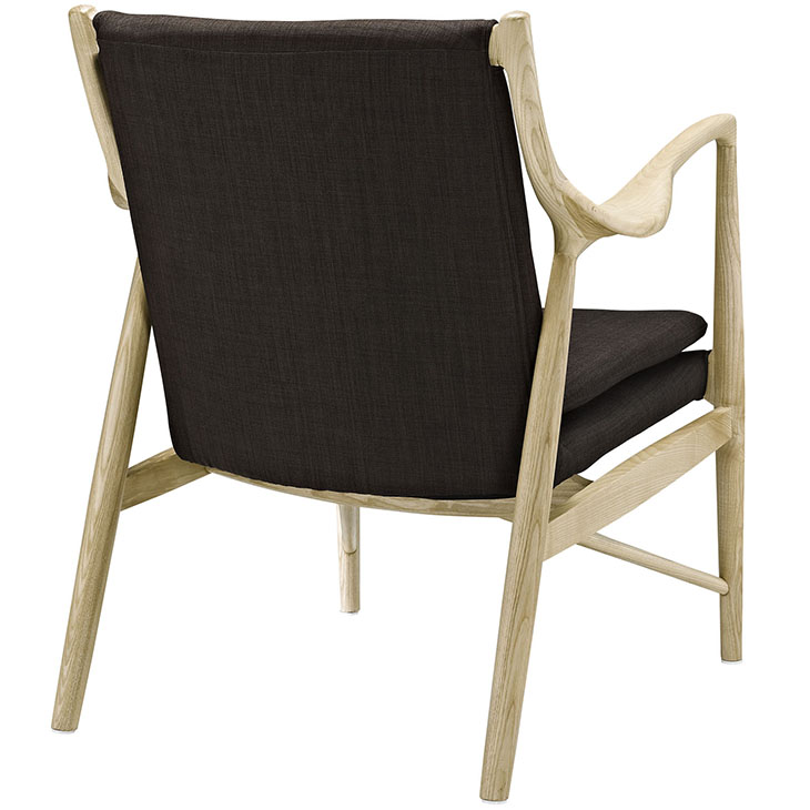 horn wood fabric chair brown 2
