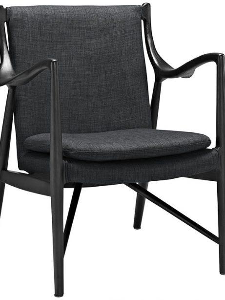 horn wood fabric chair gray 1 461x614