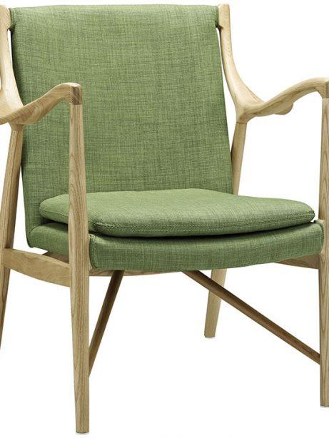 horn wood fabric chair green 1 461x614
