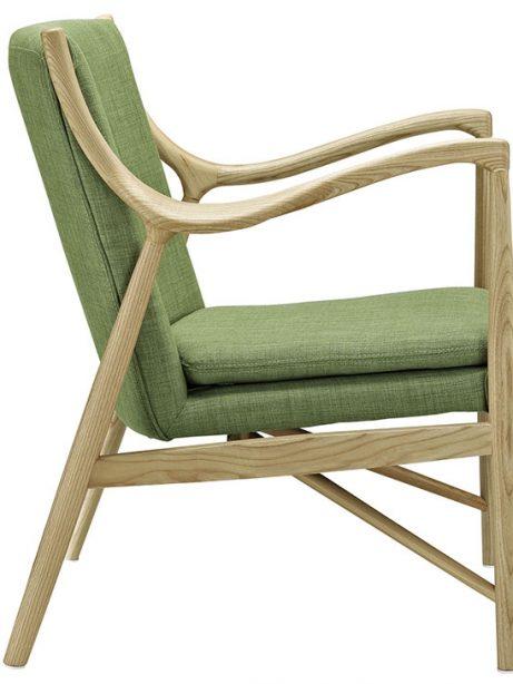 horn wood fabric chair green 2 461x614