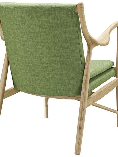 horn wood fabric chair green 3 461x614