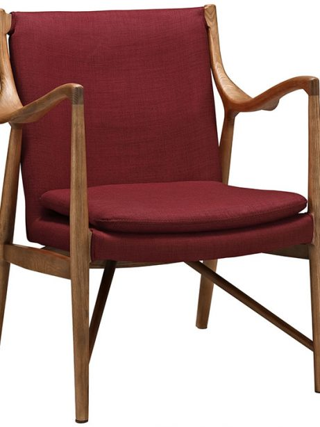 horn wood fabric chair red 1 461x614