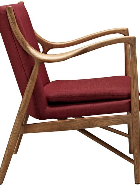 horn wood fabric chair red 2 461x614
