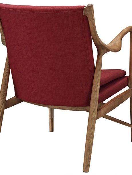 horn wood fabric chair red 3 461x614