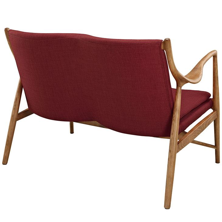 horn wood lovseat red 4