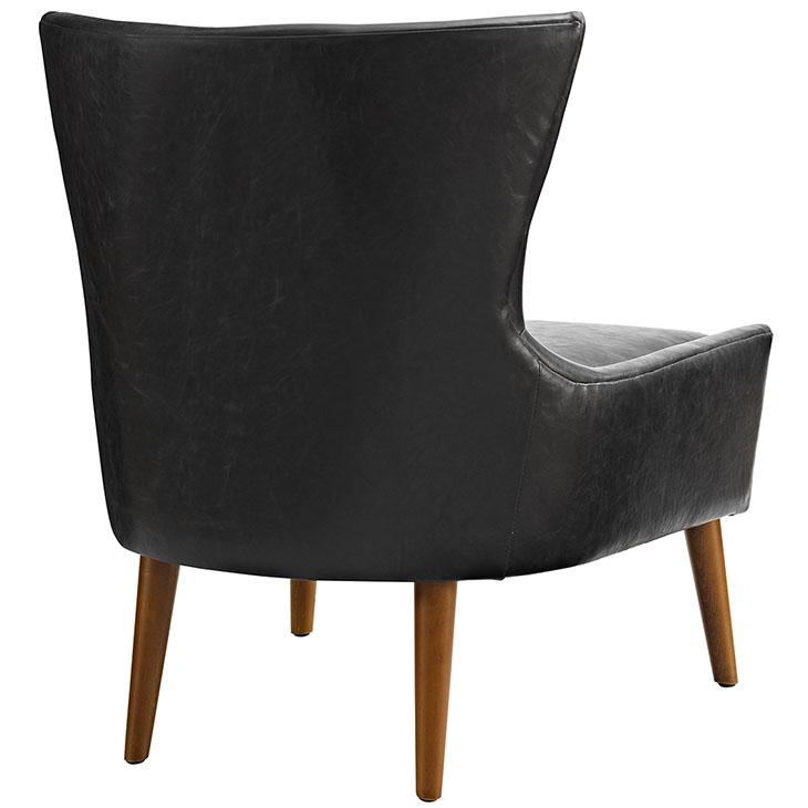 journal mid century modern accent chair black 3