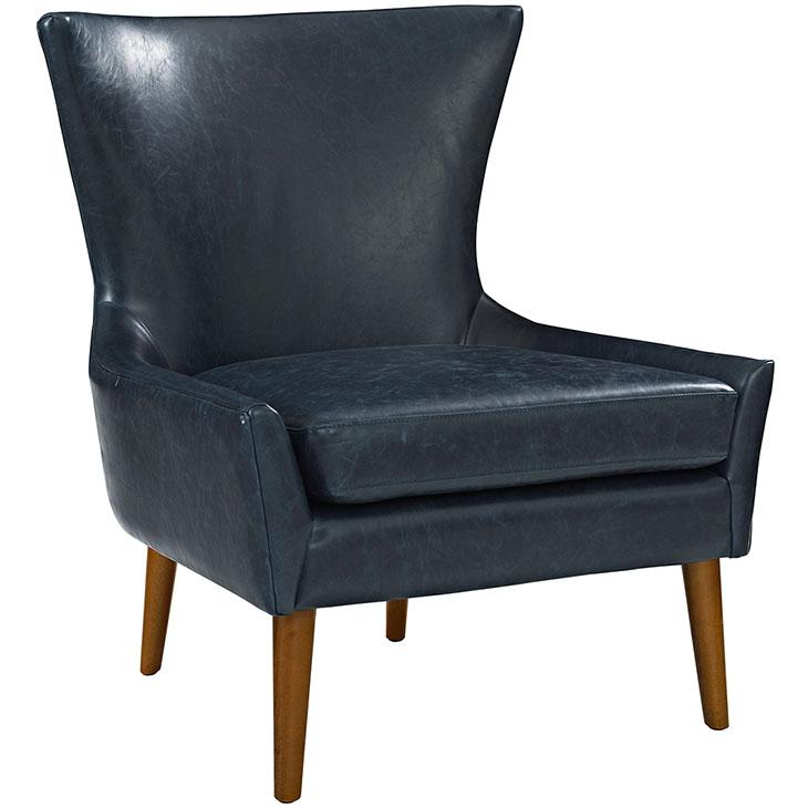journal mid century modern accent chair blue 1