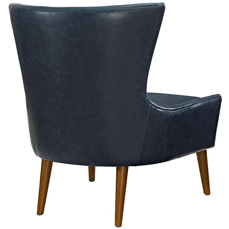 journal mid century modern accent chair blue 3