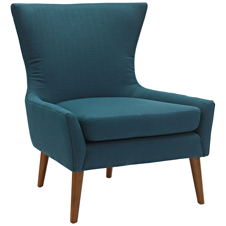 journal mid century modern fabric accent chair blue 1