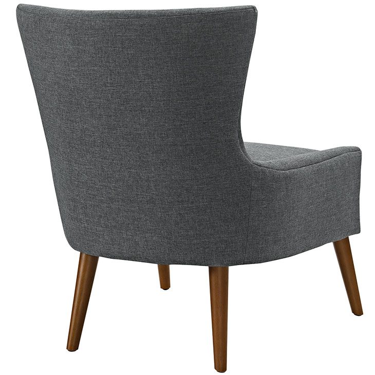 journal mid century modern fabric accent chair gray 3